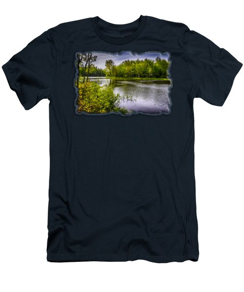 Men's T-Shirt (Slim Fit) featuring the photograph Round The Bend In Oil 36 by Mark Myhaver