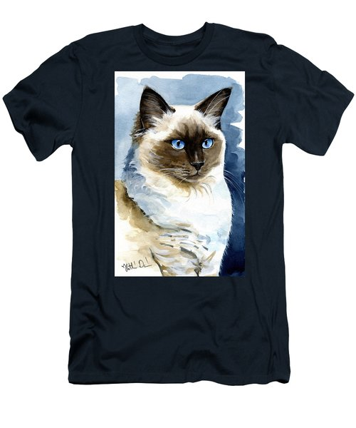 Roxy - Ragdoll Cat Portrait Men's T-Shirt (Athletic Fit)