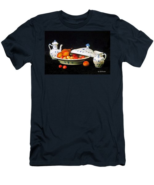 Men's T-Shirt (Athletic Fit) featuring the photograph Royal Copenhagen And Fruits by Elf Evans