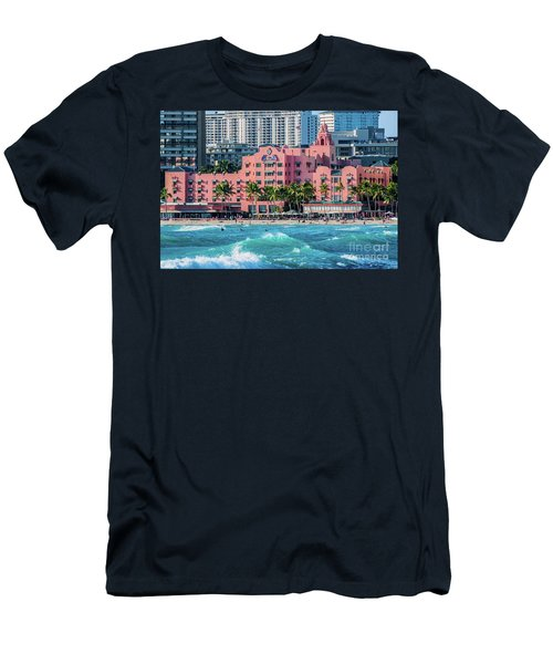 Royal Hawaiian Hotel Surfs Up Men's T-Shirt (Slim Fit) by Aloha Art