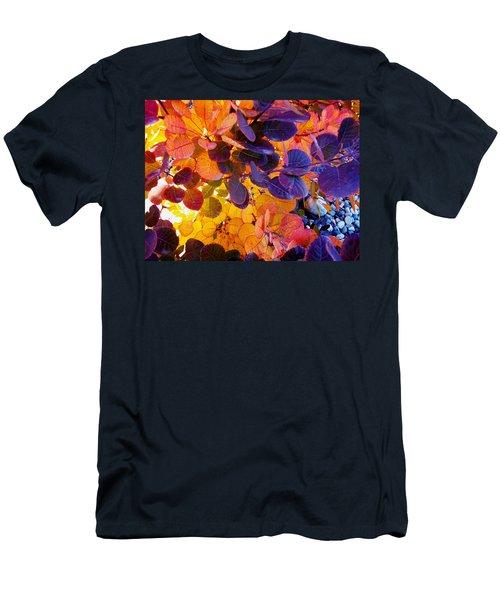 Royal Purple Smoke Bush Men's T-Shirt (Athletic Fit)
