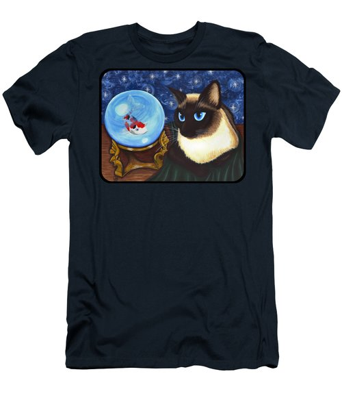 Rue Rue's Fortune - Siamese Cat Koi Men's T-Shirt (Athletic Fit)