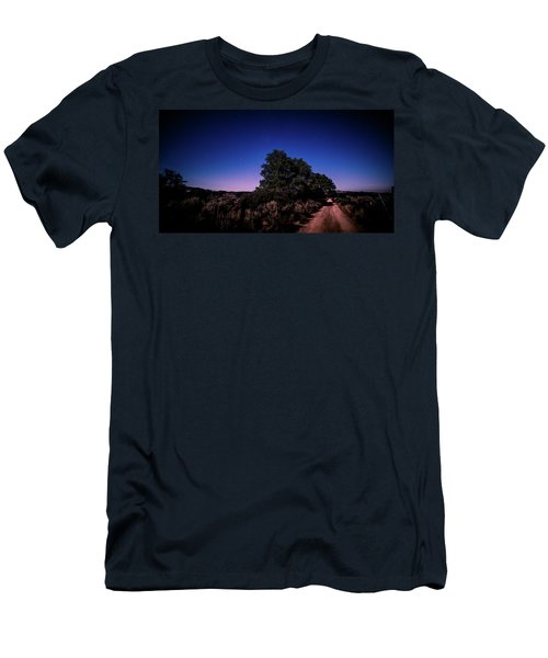 Rural Starlit Road Men's T-Shirt (Athletic Fit)