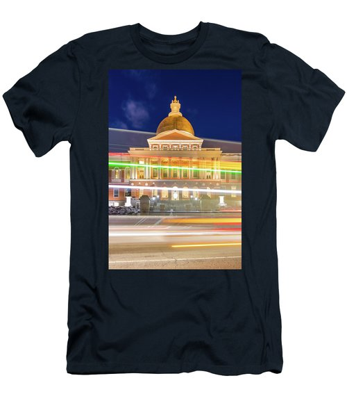 Rush Hour In Front Of The Massachusetts Statehouse Men's T-Shirt (Athletic Fit)