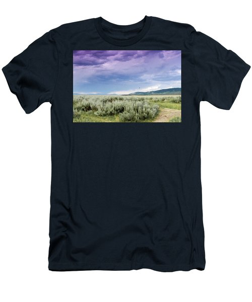 Sage Fields  Men's T-Shirt (Slim Fit) by Dawn Romine