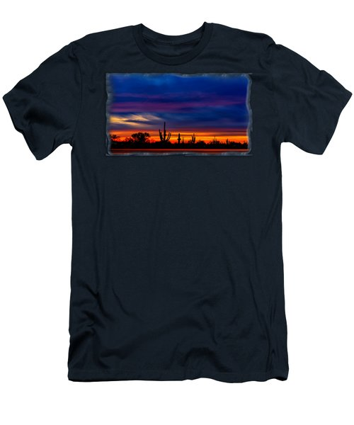Saguaro Sunset V16 Men's T-Shirt (Athletic Fit)