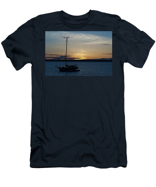 Sail Boat At Sunset Men's T-Shirt (Athletic Fit)