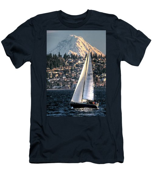 Sailing On Elliot Bay, Seattle, Wa Men's T-Shirt (Athletic Fit)