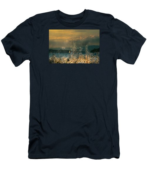 Men's T-Shirt (Slim Fit) featuring the photograph Sailing On The Winnipesaukee by Mim White