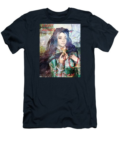 Men's T-Shirt (Slim Fit) featuring the painting Saint Agnes Le Thi Thanh by Suzanne Silvir