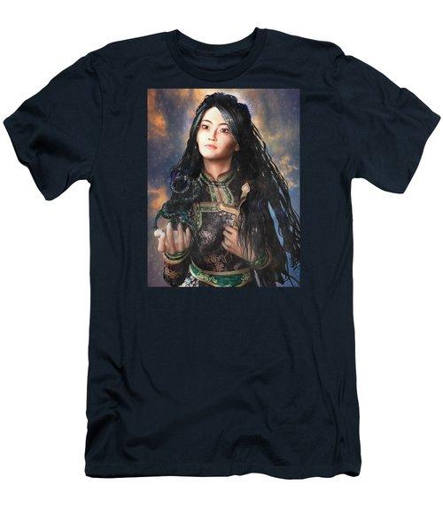 Saint Agnes Of Vietnam 7 Men's T-Shirt (Slim Fit) by Suzanne Silvir