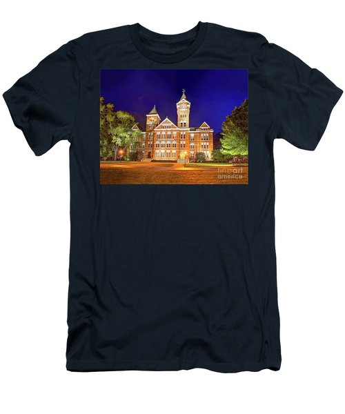 Men's T-Shirt (Athletic Fit) featuring the photograph Samford Hall At Night by Tommy Patterson