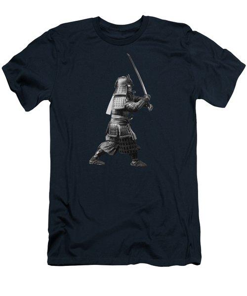 Samurai Brandishing His Sword - Japanese History Men's T-Shirt (Athletic Fit)