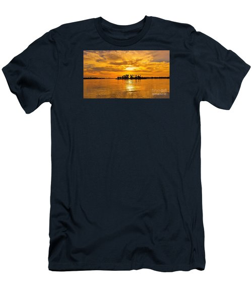 San Diego Golden Sky By Jasna Gopic Men's T-Shirt (Slim Fit) by Jasna Gopic