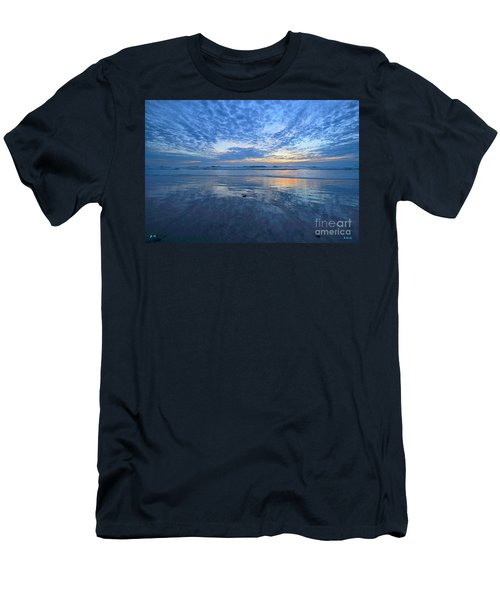 Men's T-Shirt (Athletic Fit) featuring the photograph San Elijo Blue by John F Tsumas
