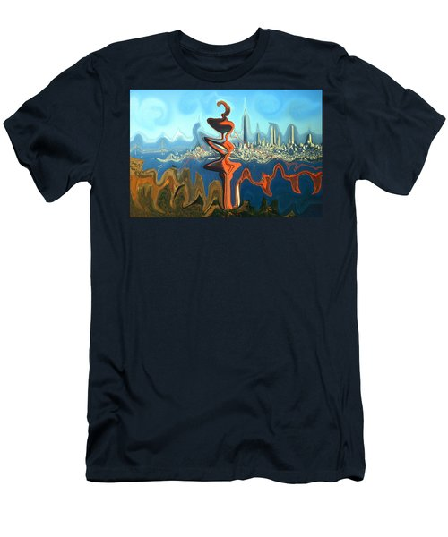 San Francisco Earthquake - Modern Artwork Men's T-Shirt (Athletic Fit)