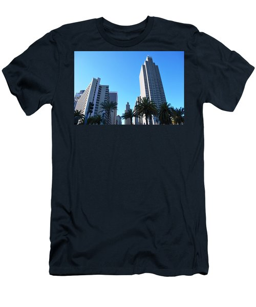 San Francisco Embarcadero Center Men's T-Shirt (Slim Fit) by Matt Harang