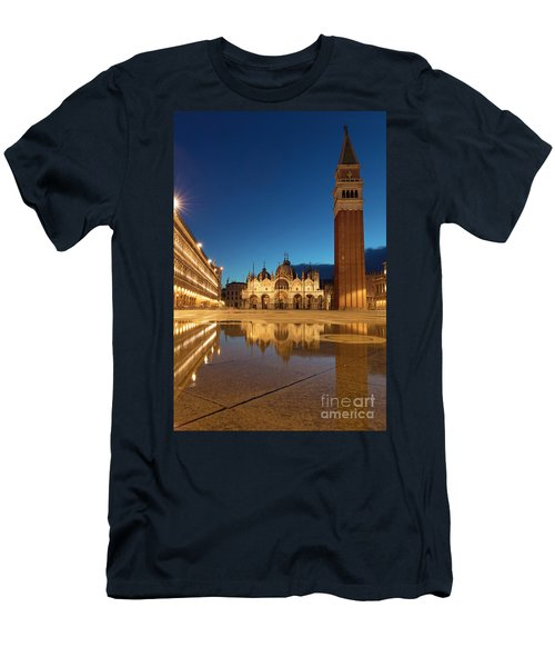 Men's T-Shirt (Slim Fit) featuring the photograph San Marco Twilight by Brian Jannsen