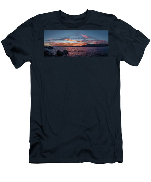 Sand Harbor Sunset Pano2 Men's T-Shirt (Athletic Fit)