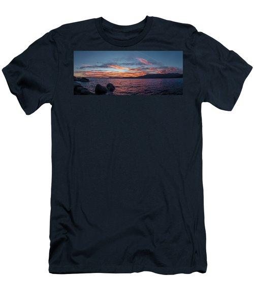 Sand Harbor Sunset Pano2 Men's T-Shirt (Athletic Fit)