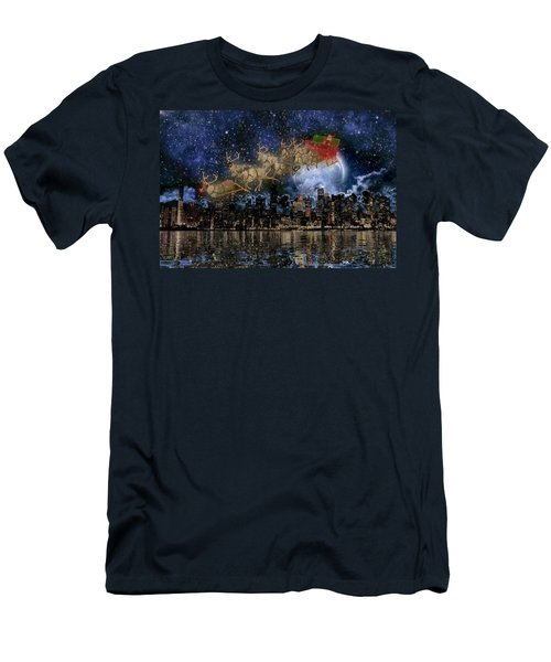 Santa In The City Men's T-Shirt (Athletic Fit)