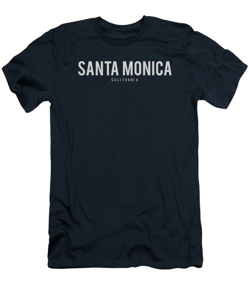 Santa Monica California Men's T-Shirt (Athletic Fit)