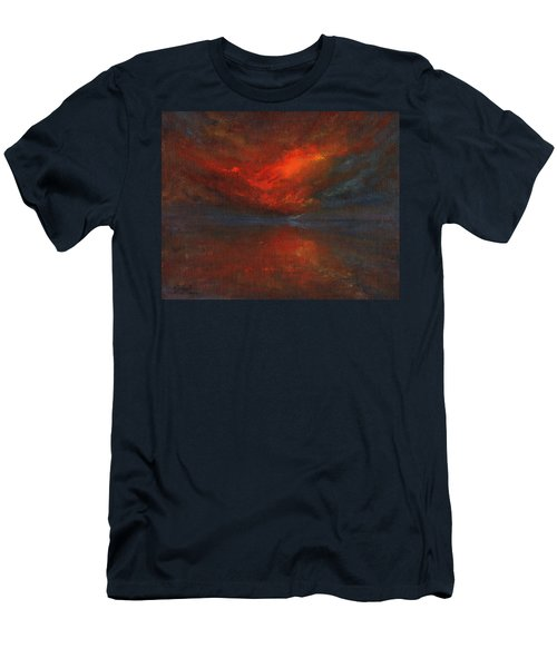 Sapphire Sunset Men's T-Shirt (Slim Fit) by Jane See