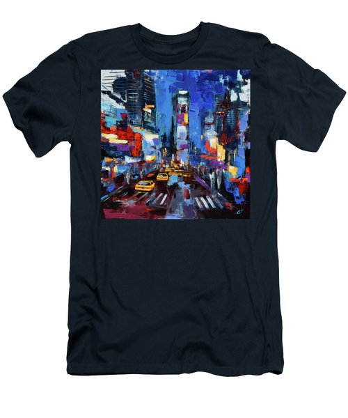 Saturday Night In Times Square Men's T-Shirt (Athletic Fit)