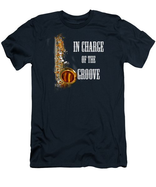 Saxophones In Charge Of The Groove 5531.02 Men's T-Shirt (Slim Fit) by M K  Miller