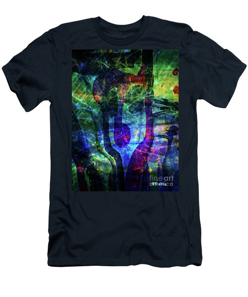 Scary Face-2 Men's T-Shirt (Athletic Fit)