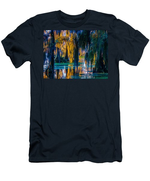 Scary Swamp In The Daytime Men's T-Shirt (Slim Fit) by Kimo Fernandez