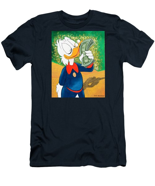 Scrooge Mcduck Kissing Money Men's T-Shirt (Athletic Fit)