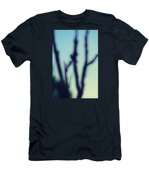 Men's T-Shirt (Slim Fit) featuring the photograph Scrub Silhouette by Cassandra Buckley