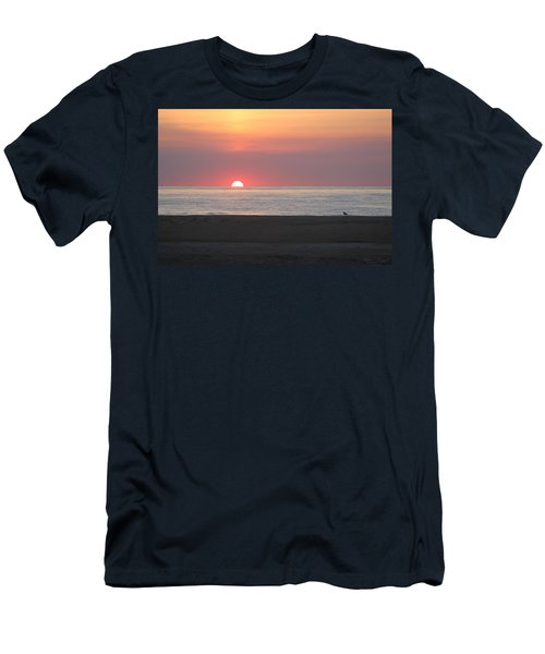 Seagull Watching Sunrise Men's T-Shirt (Athletic Fit)