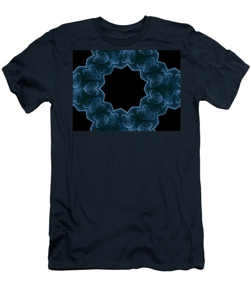 Seamless Kaleidoscope Blue Men's T-Shirt (Athletic Fit)