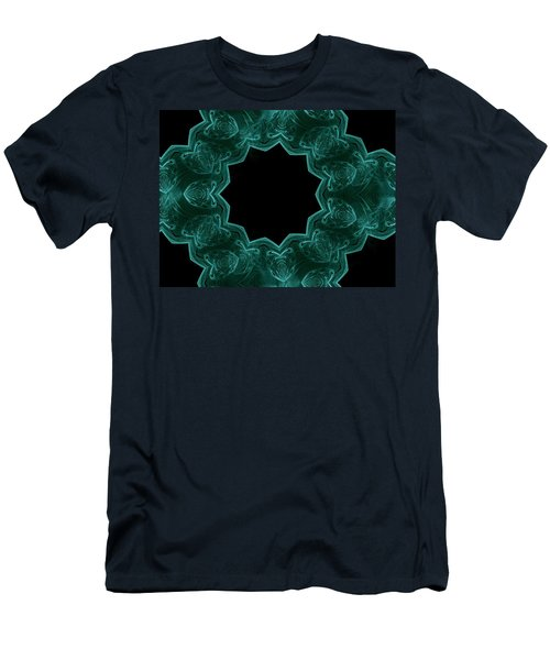 Seamless Kaleidoscope Green Men's T-Shirt (Athletic Fit)