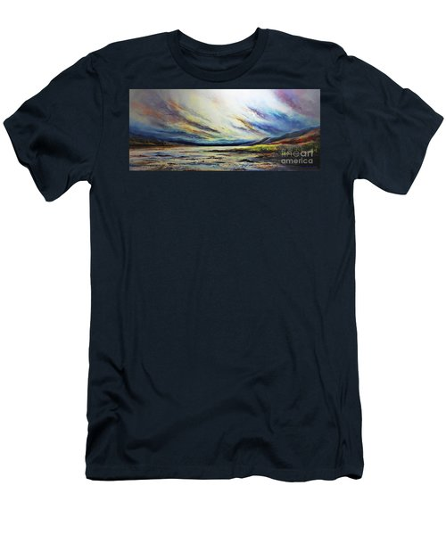 Men's T-Shirt (Slim Fit) featuring the painting Seaside by AmaS Art