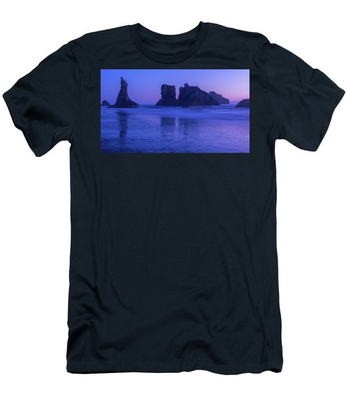 Seastack Sunset In Bandon Men's T-Shirt (Athletic Fit)