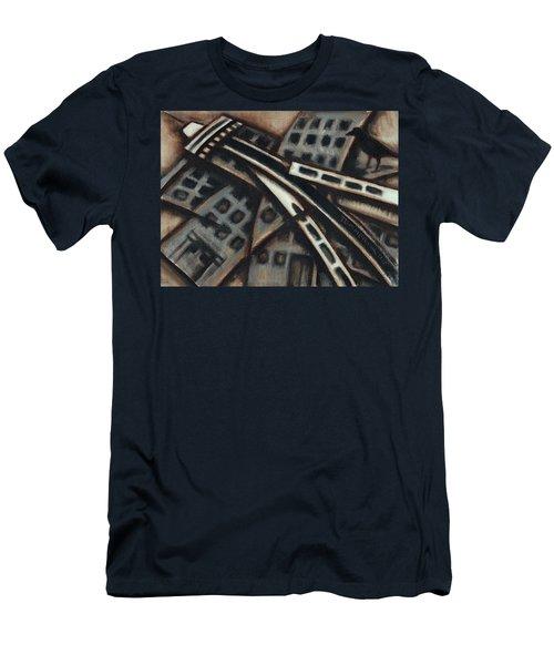Tommervik Seattle Downtown Art Print Men's T-Shirt (Athletic Fit)