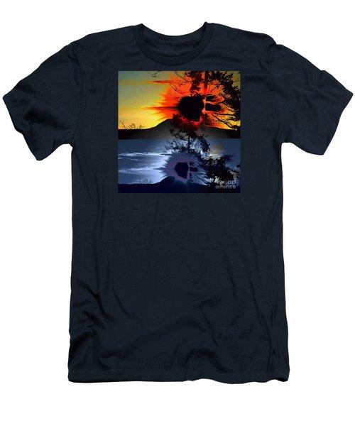 Sechelt Tree Sun And Moon Men's T-Shirt (Slim Fit) by Elaine Hunter