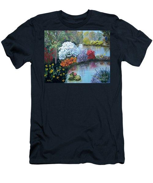 Secret Garden Men's T-Shirt (Slim Fit) by Phyllis Kaltenbach