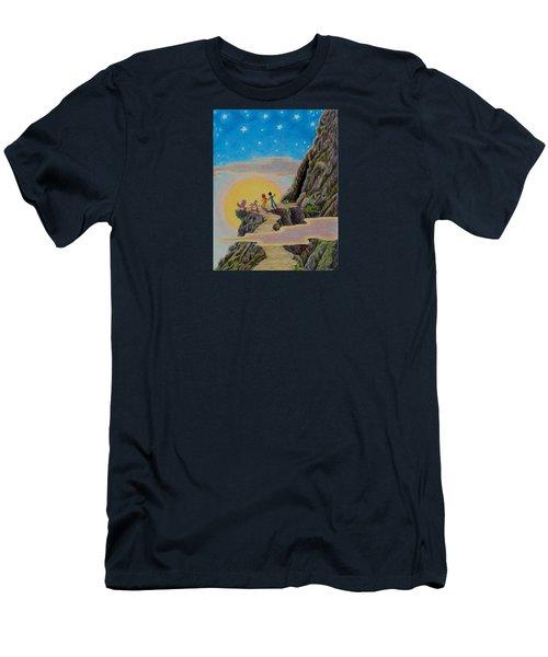 Seeking The Dragons Vast Treasure Men's T-Shirt (Slim Fit) by Matt Konar