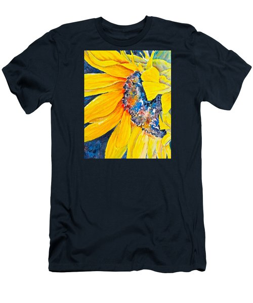 Men's T-Shirt (Slim Fit) featuring the painting September Sunflower by Carolyn Rosenberger