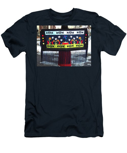 Men's T-Shirt (Athletic Fit) featuring the tapestry - textile Shawl - Lost Birds Return by Chholing Taha