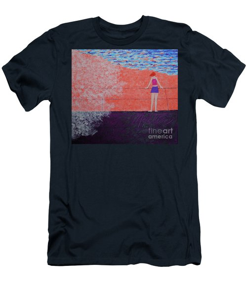 The Beach At Sunset Men's T-Shirt (Athletic Fit)