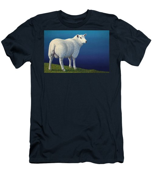 Sheep At The Edge Men's T-Shirt (Athletic Fit)