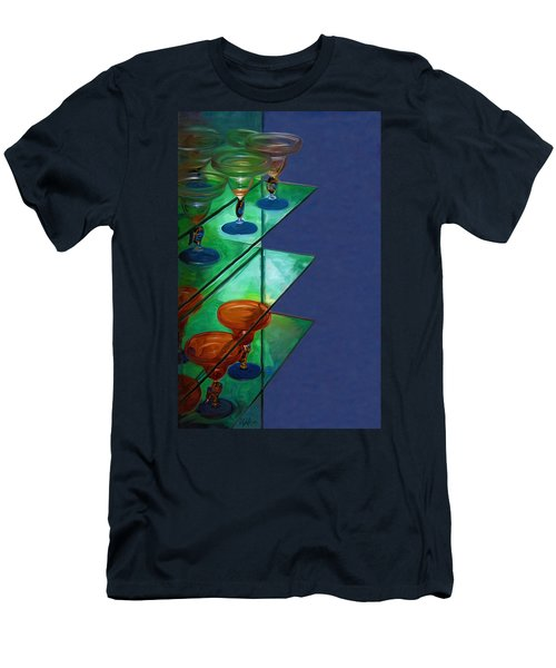 Men's T-Shirt (Slim Fit) featuring the digital art Sheilas Margaritas by Holly Ethan