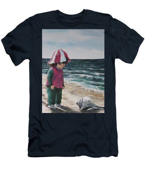 Men's T-Shirt (Slim Fit) featuring the painting Shello by Jack Skinner