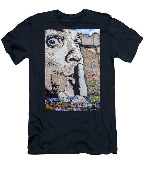 Shhhh Men's T-Shirt (Athletic Fit)