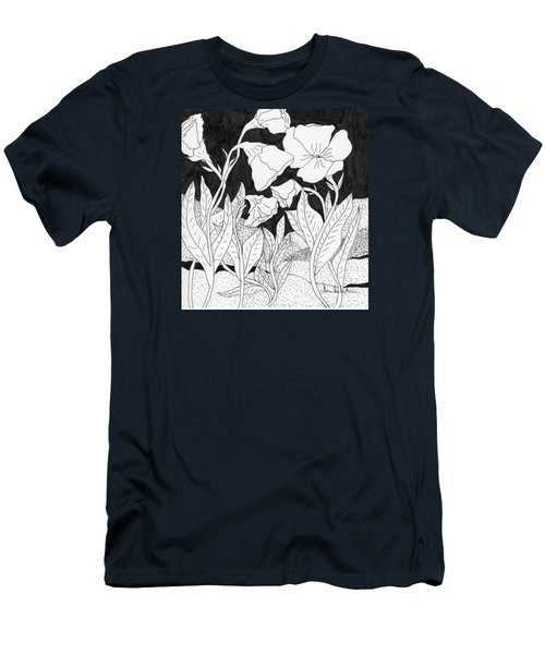 Men's T-Shirt (Slim Fit) featuring the painting Shooting The Breeze by Lou Belcher